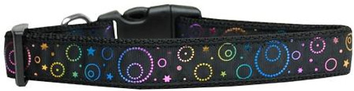 Galactic Shimmer Nylon Dog Collar Medium