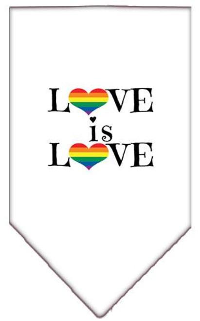 Love Is Love Screen Print Bandana White Large