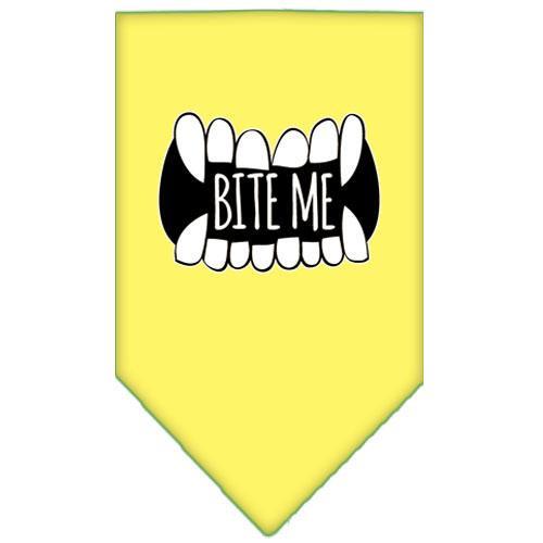 Bite Me Screen Print Bandana Yellow Small