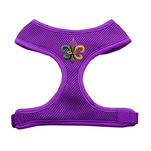 Mardi Gras Fleur De Lis Chipper Purple Harness Medium