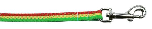Rasta Bamboo Nylon Dog Collar 3/8 Wide 6ft Lsh