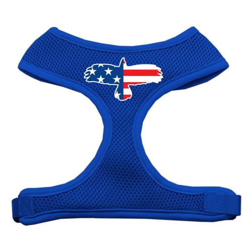 Eagle Flag  Screen Print Soft Mesh Harness Blue Medium