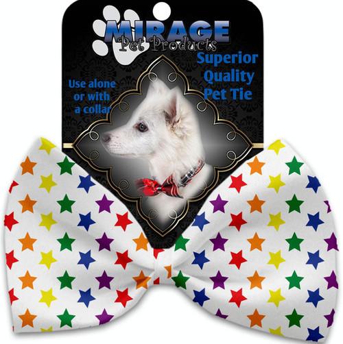 Rainbow Stars Pet Bow Tie