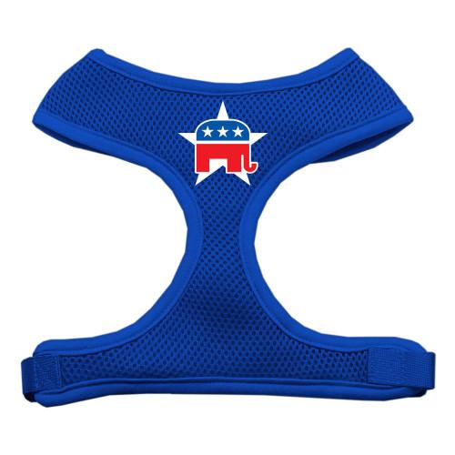 Republican Screen Print Soft Mesh Harness Blue Large
