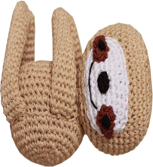 Knit Knacks Fraggles The Funny Baby Sloth Organic Cotton Small Dog Toy