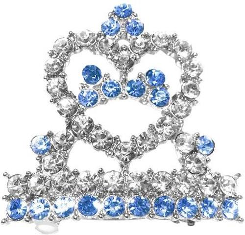 Tiara Hair Barrette Blue