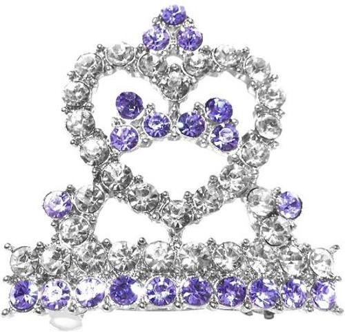 Tiara Hair Barrette Purple