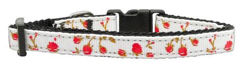 Roses Nylon Ribbon Collar Red X-small - 125-020 XSRD