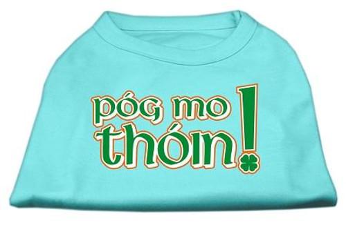 Pog Mo Thoin Screen Print Shirt Aqua Sm (10) - 51-63 SMAQ