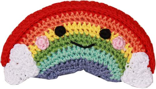 Knit Knacks Happy Rainbow Organic Cotton Small Dog Toy