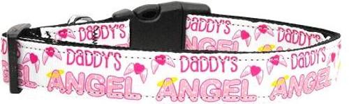 Daddy's Angel Dog Collar Medium