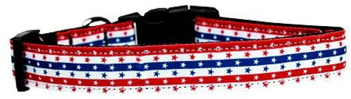 Stars In Stripes Nylon Dog Collar Large