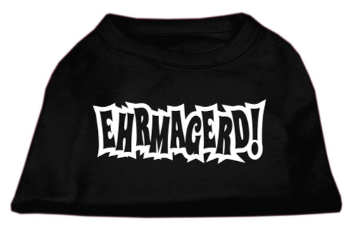 Ehrmagerd Screen Print Shirt Black Lg (14)