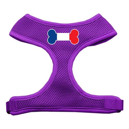 Bone Flag France Screen Print Soft Mesh Harness Purple Large