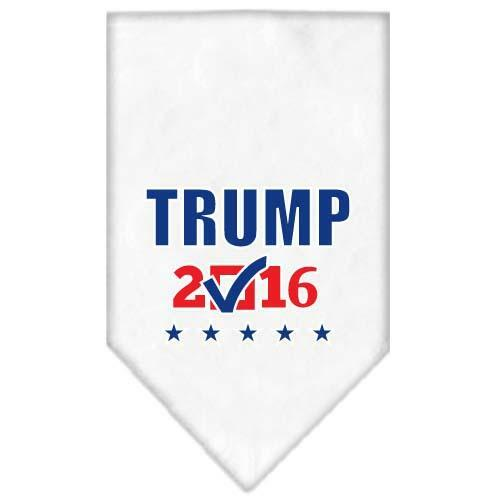 Trump Checkbox Election Screenprint Bandana White Large