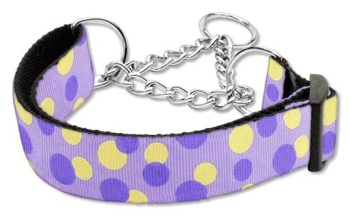 Confetti Dots Nylon Collar Martingale Lavender Medium