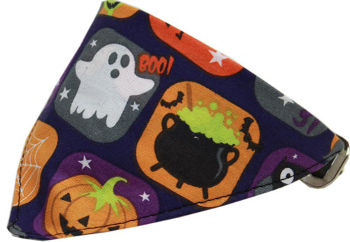 Classic Halloween Bandana Pet Collar Black Size 16