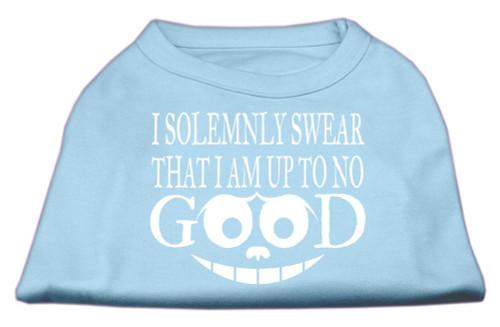 Up To No Good Screen Print Shirt Baby Blue Xl (16)