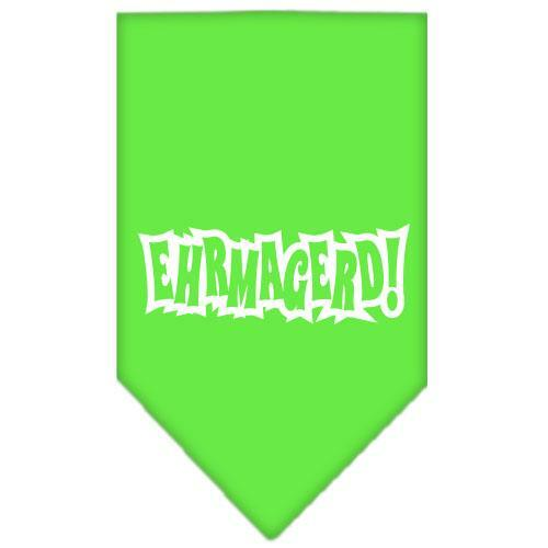 Ehrmagerd Screen Print Bandana Lime Green Small
