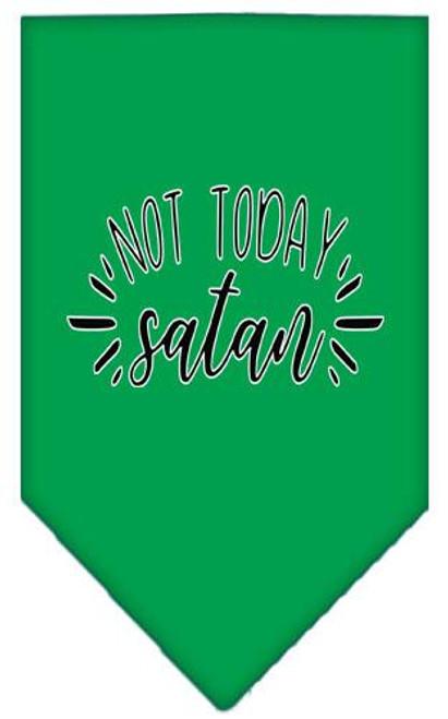 Not Today Satan Screen Print Bandana Emerald Green Large
