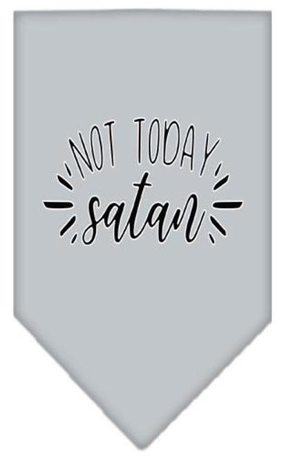 Not Today Satan Screen Print Bandana Grey Large