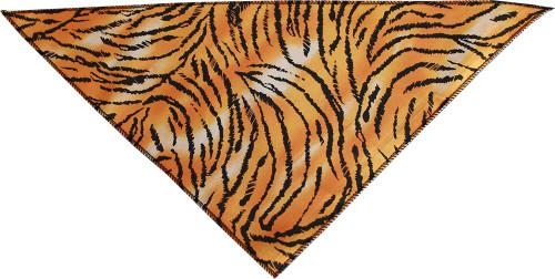 Tiger Print Tie-on Pet Bandana Size Large