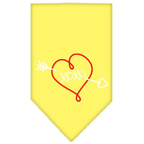 Xoxo Screen Print Bandana Yellow Small