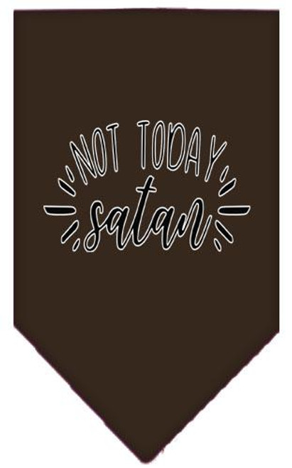 Not Today Satan Screen Print Bandana Cocoa Large