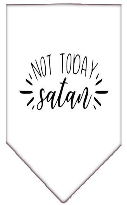 Not Today Satan Screen Print Bandana White Large
