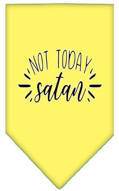 Not Today Satan Screen Print Bandana Yellow Large