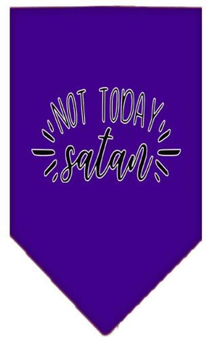 Not Today Satan Screen Print Bandana Purple Large