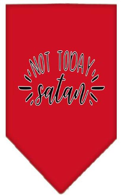 Not Today Satan Screen Print Bandana Red Large