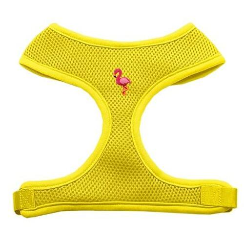 Pink Flamingo Chipper Yellow Harness Medium