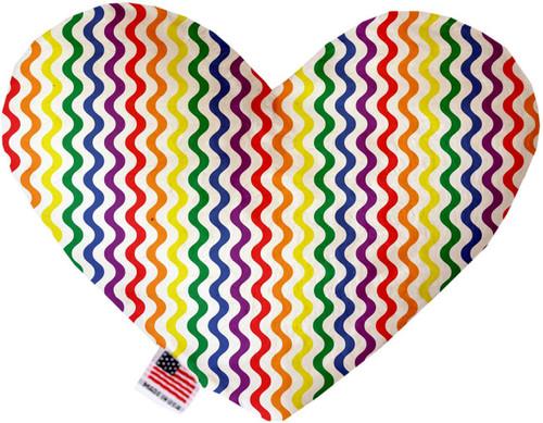 Rainbow Fun Stripes 6 Inch Heart Dog Toy