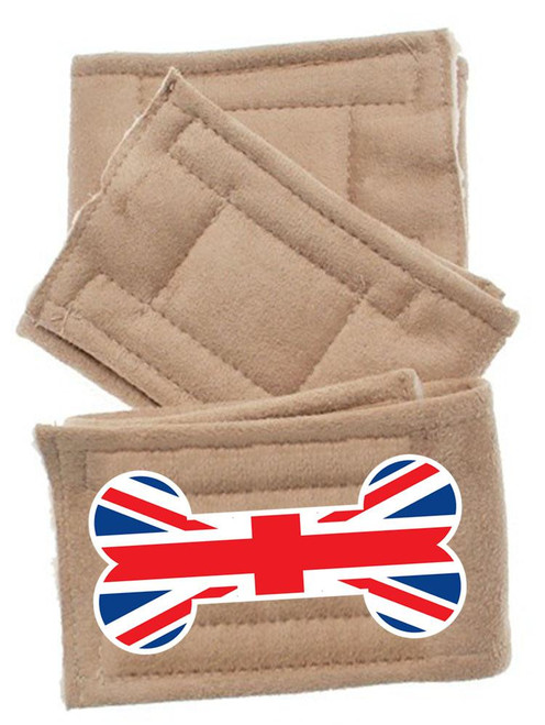 Peter Pads Size Lg British Bone Flag 3 Pack