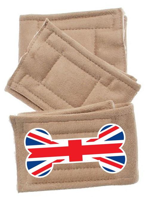 Peter Pads Size Md British Bone Flag 3 Pack