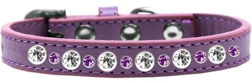 Posh Jeweled Dog Collar Lavender Size 16