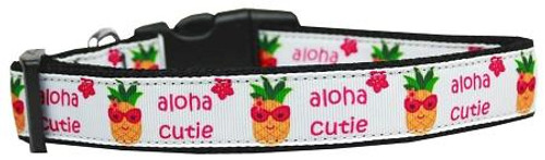 Aloha Cutie Nylon Dog Collar Large