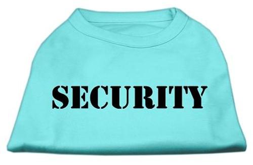 Security Screen Print Shirts Aqua W/ Black Text Lg (14) - 51-48 LGAQ