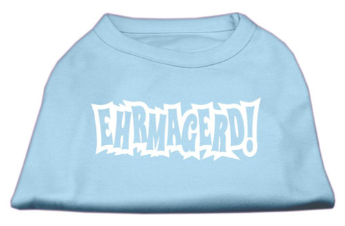 Ehrmagerd Screen Print Shirt Baby Blue Xl (16)