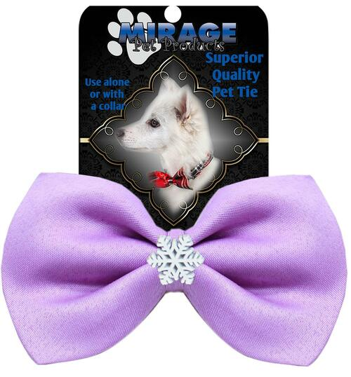 Snowflake Widget Pet Bowtie Lavender