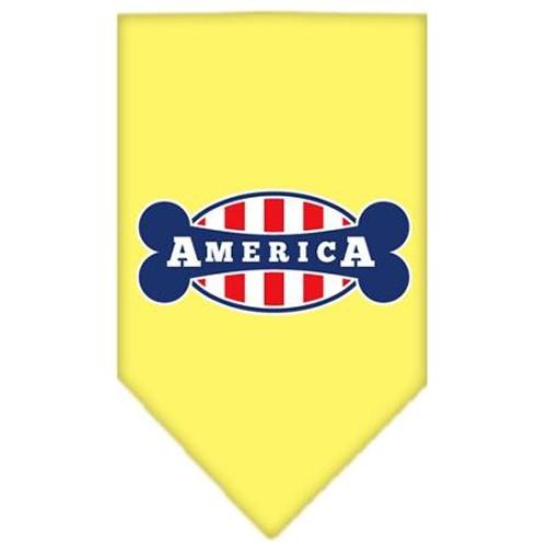 Bonely In America Screen Print Bandana Yellow Large
