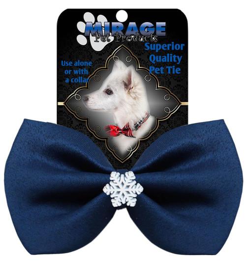 Snowflake Widget Pet Bowtie Navy Blue