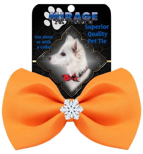 Snowflake Widget Pet Bowtie Orange