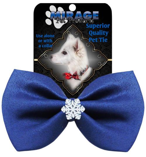 Snowflake Widget Pet Bowtie Blue