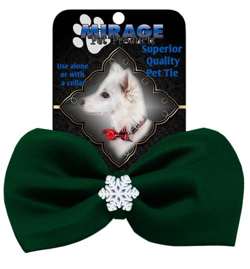Snowflake Widget Pet Bowtie Green