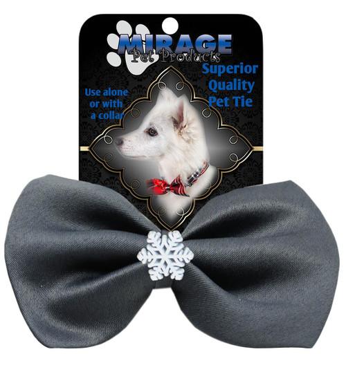 Snowflake Widget Pet Bowtie Grey