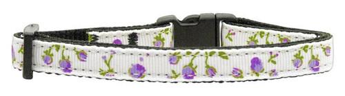 Roses Nylon Ribbon Collar Purple Cat Safety - 125-020 CTPR