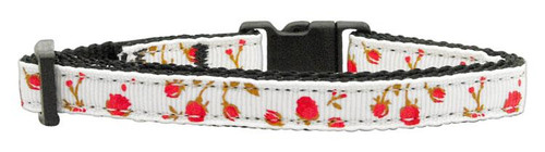 Roses Nylon Ribbon Collar Red Cat Safety - 125-020 CTRD