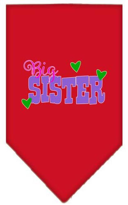 Big Sister Screen Print Bandana Red Large